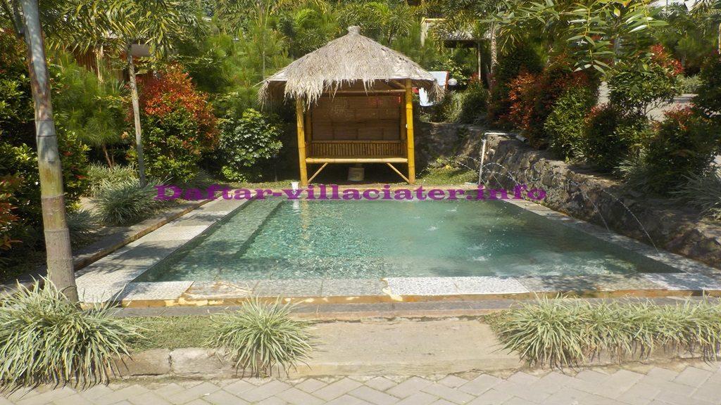 villa perkamar di ciater fasilitas kolam renang air panas pribadi